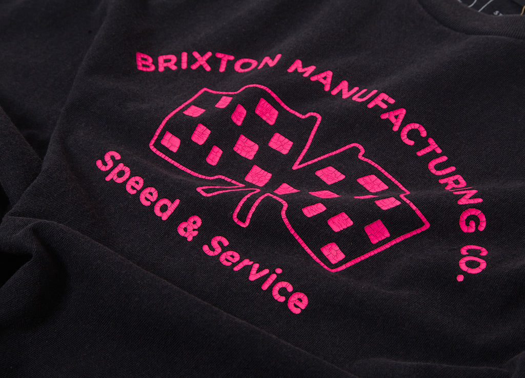 Brixton Burnout T Shirt - Black