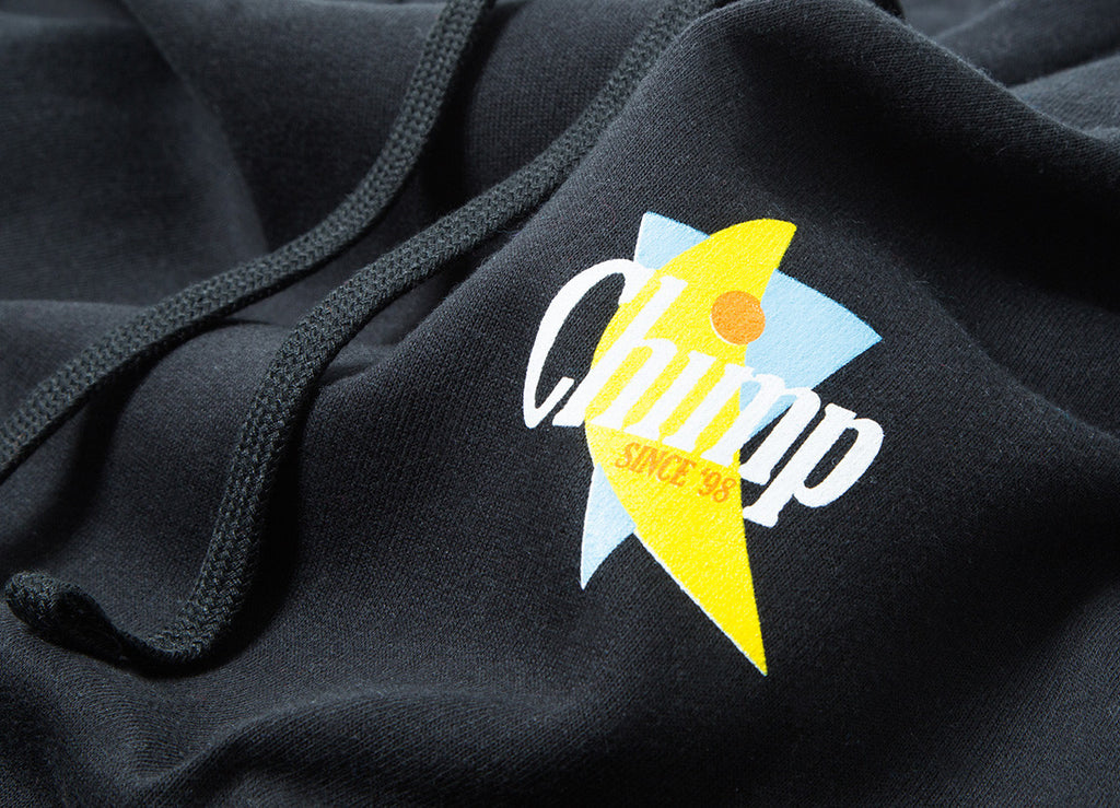 Chimp Abstract Pullover Hoody - Black