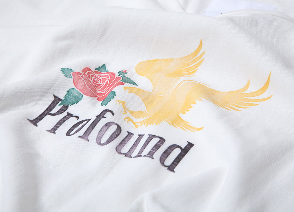 Profound Aesthetic Golden Eagle T Shirt - Off White