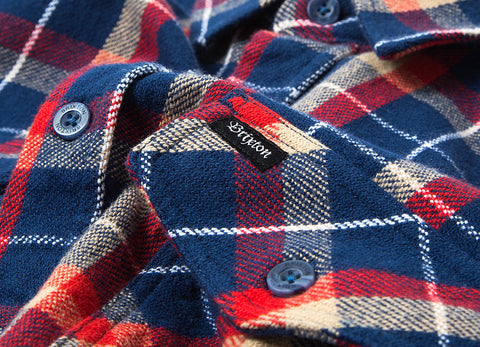Brixton Grady Flannel Shirt - Deep Blue