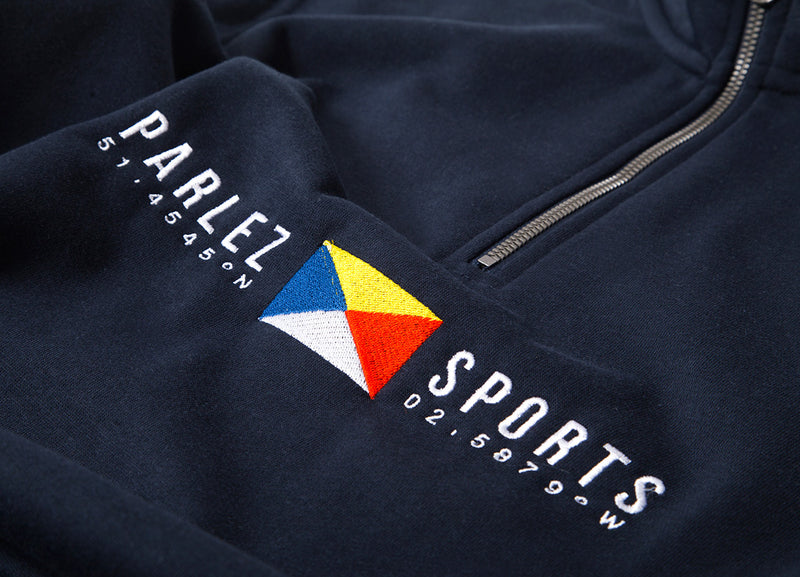Parlez Tjalk 1/4 Zip Sweatshirt - Navy