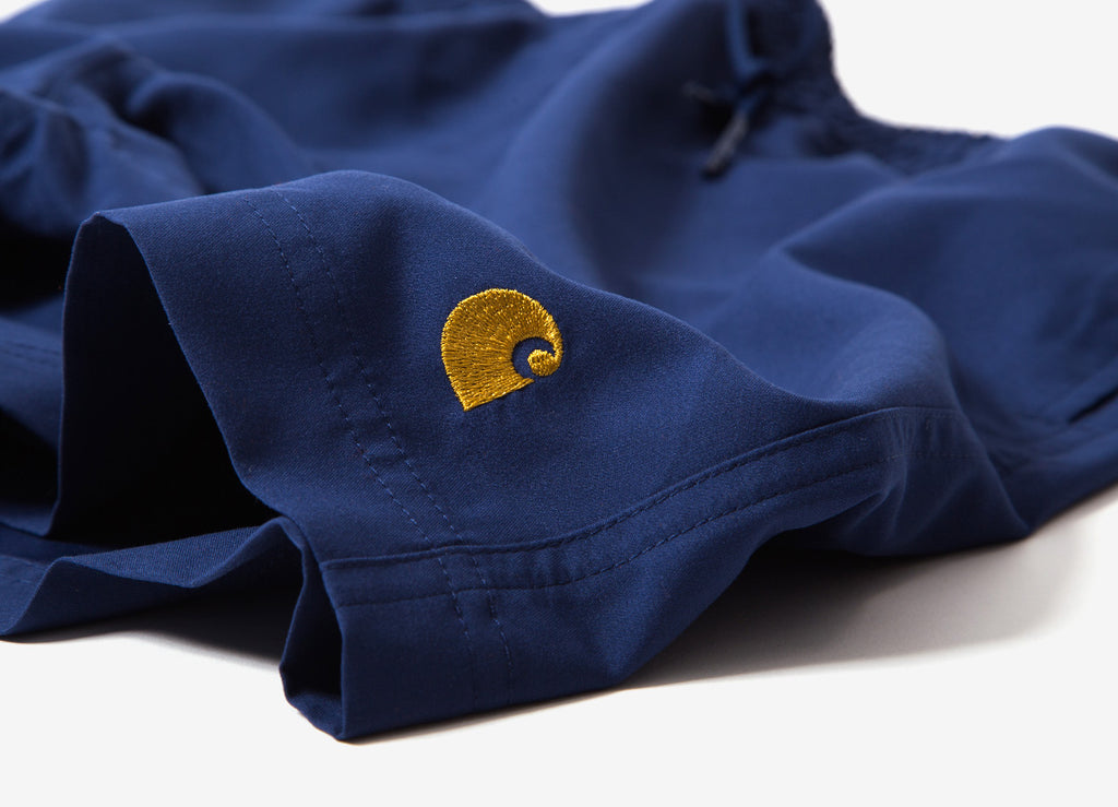 ede7fe9a8f0d7 Carhartt Chase Swim Trunk Metro Blue Gold   Carhartt Clothing   The ...