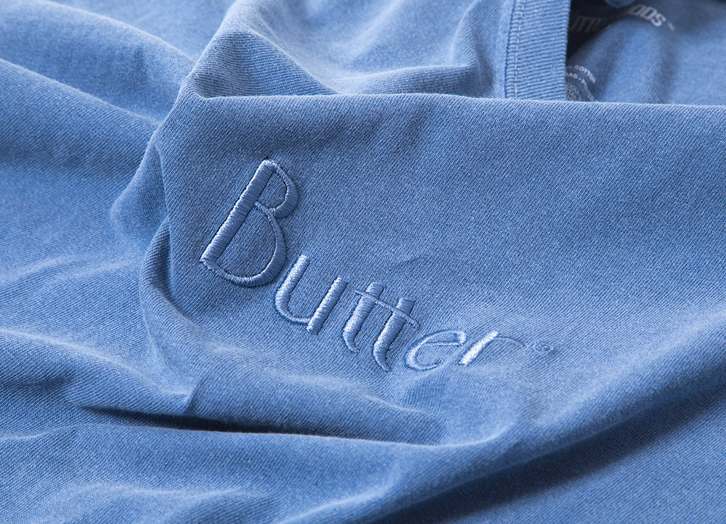 Butter Goods Tonal Embroidered Classic Logo T-Shirt - Denim