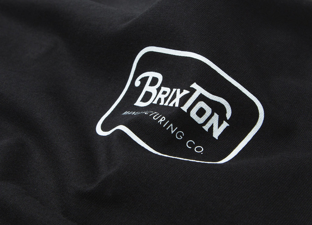 Brixton Grade T Shirt - Black/White