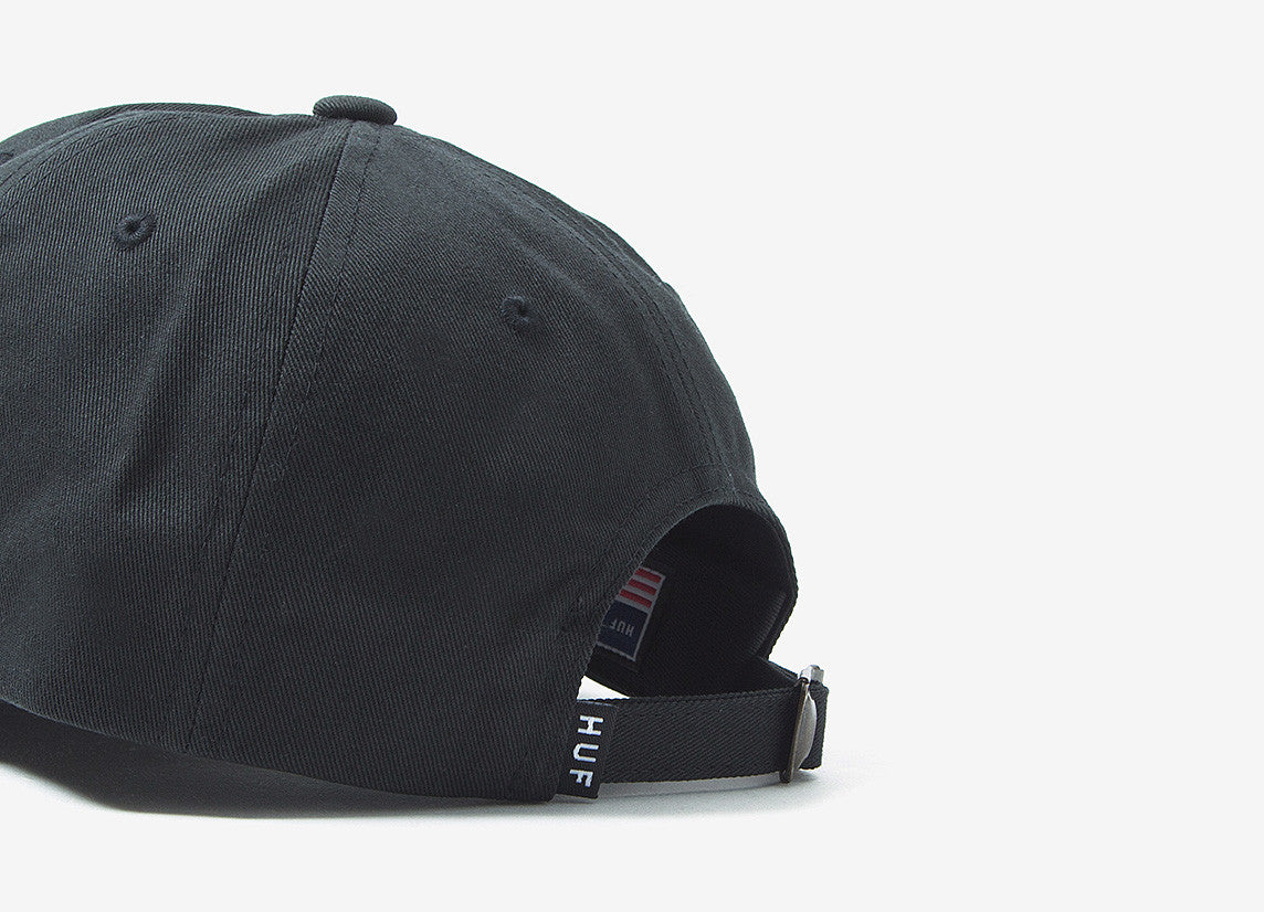 HUF x Thrasher TDS Curved Visor 6 Panel - Black