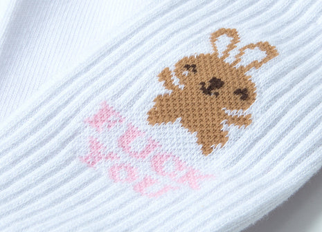 HUF Bunny Cute Socks - White