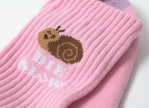 HUF Snail Cute Socks - Pink/Purple