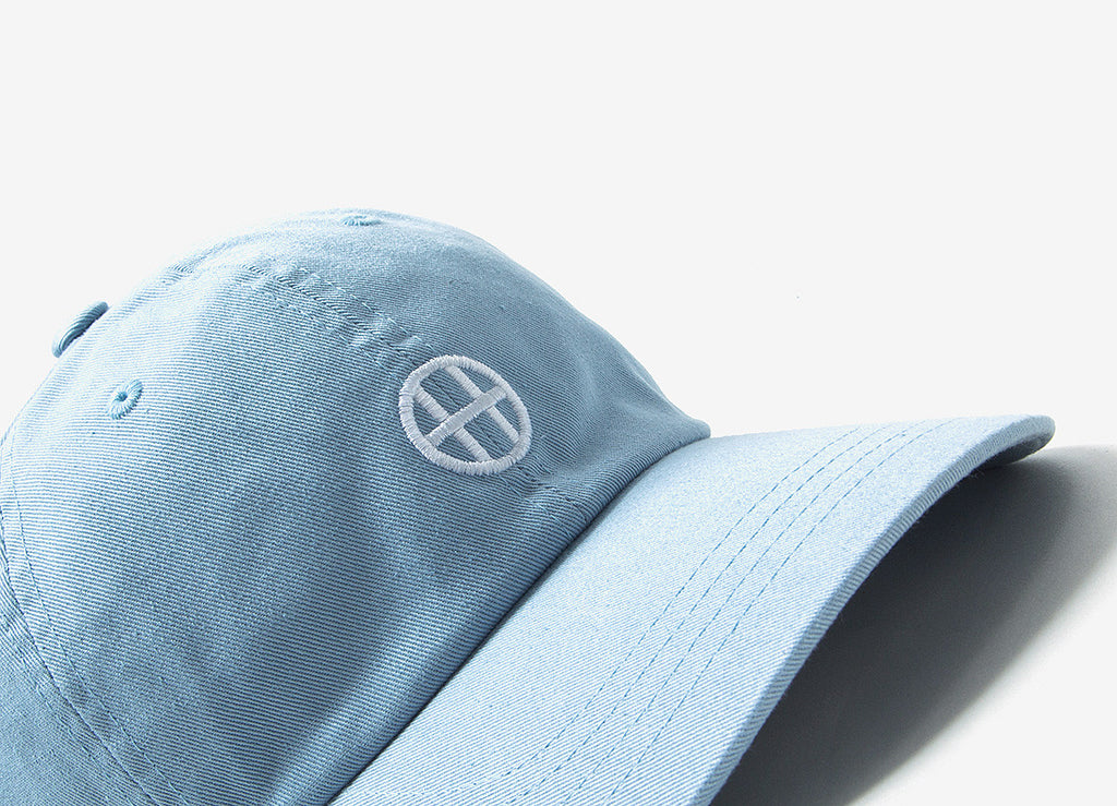 HUF Circle H Curve Visor 6 Panel Cap - Light Blue
