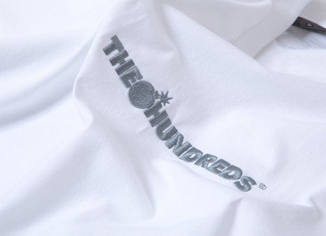 The Hundreds Bar Logo Embroidered T Shirt - White