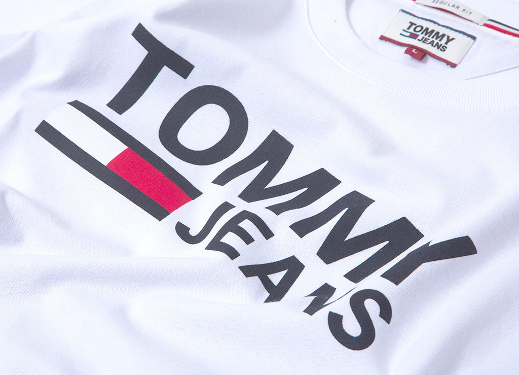 Tommy Jeans Classic Logo T Shirt - Classic White