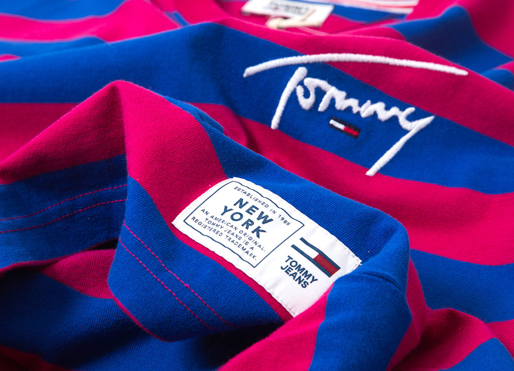 26aa6545a8 Tommy Jeans Signature Stripe T Shirt | Tommy Jeans Signature ...