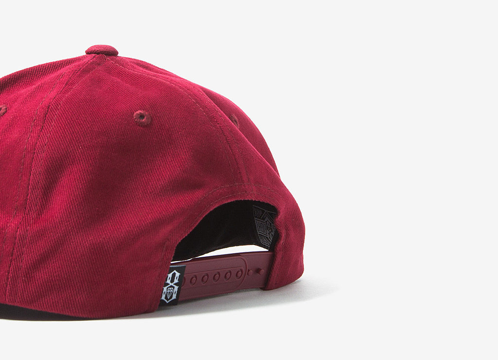 Rebel8 Rose And Dagger Snapback Cap - Burgundy