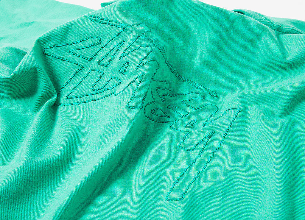 Stussy Stock Embroidered T Shirt - Green