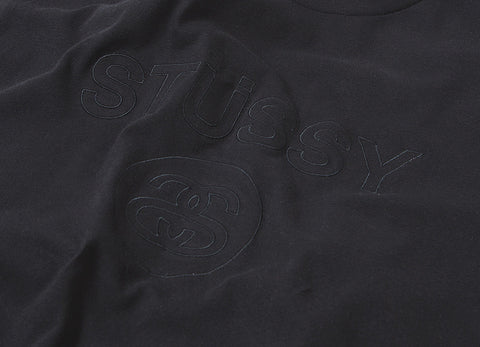 Stussy Link Embroidered T Shirt - Black
