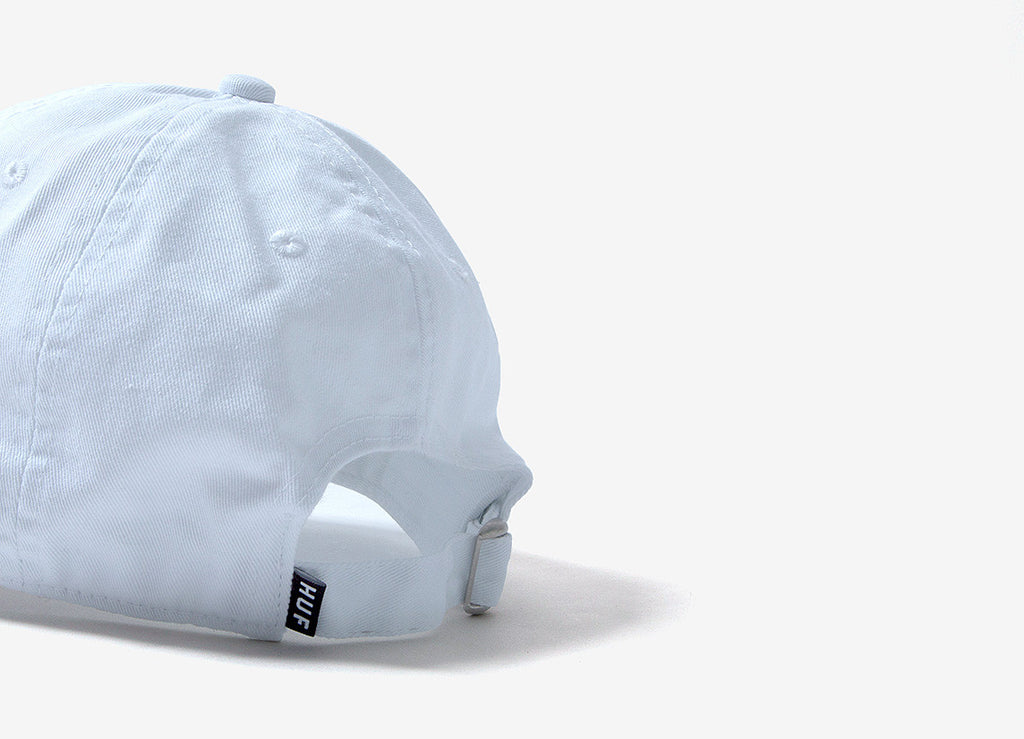 HUF Triple Triangle Curved Peak Dad Cap - White