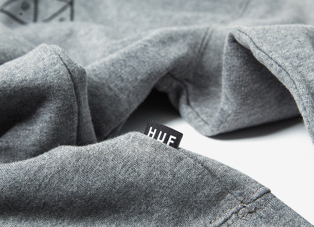 HUF Triple Triangle Pullover Hoody - Heather Grey