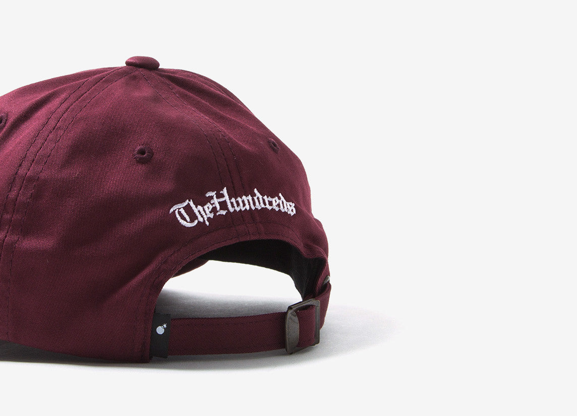 The Hundreds Oldie Dad Cap - Burgundy