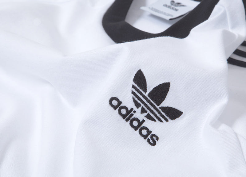 adidas Originals 3-Stripes T Shirt - White