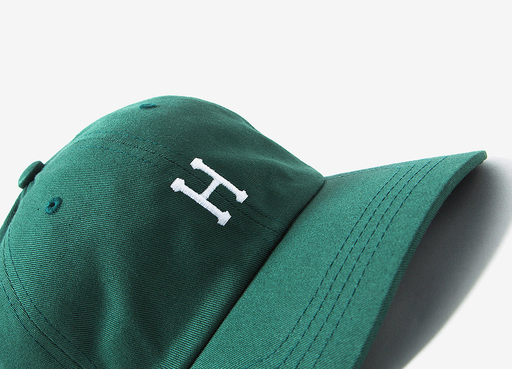 HUF Classic H Curved Peak Dad Cap - Spruce/White