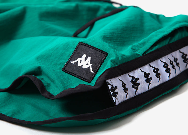 Kappa Authentic Agius Shorts - Green/Black/White