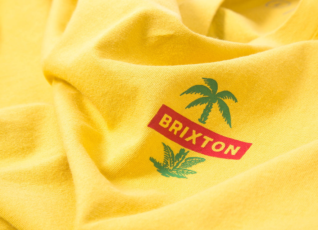 Brixton Tosh LS T Shirt - Washed Yellow