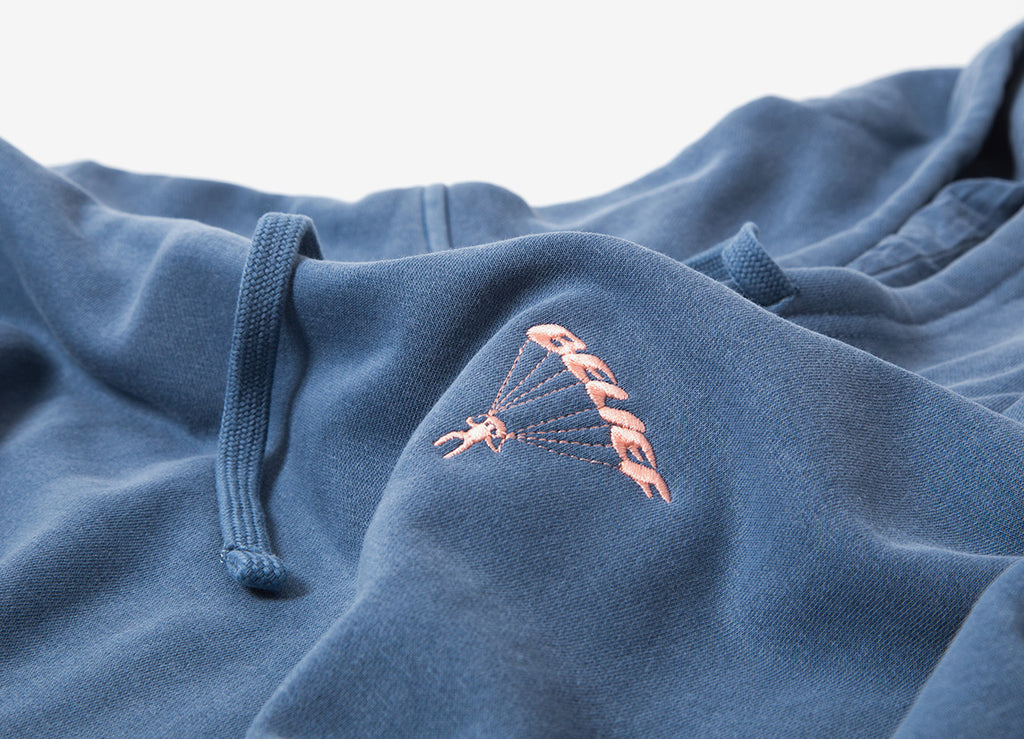 Belief Pigment Dyed Parachute Pullover Hoody - Denim