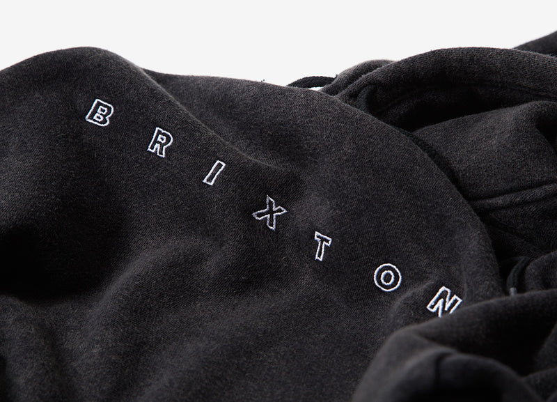 Brixton Cantor Pullover Hoody - Black Acid Wash
