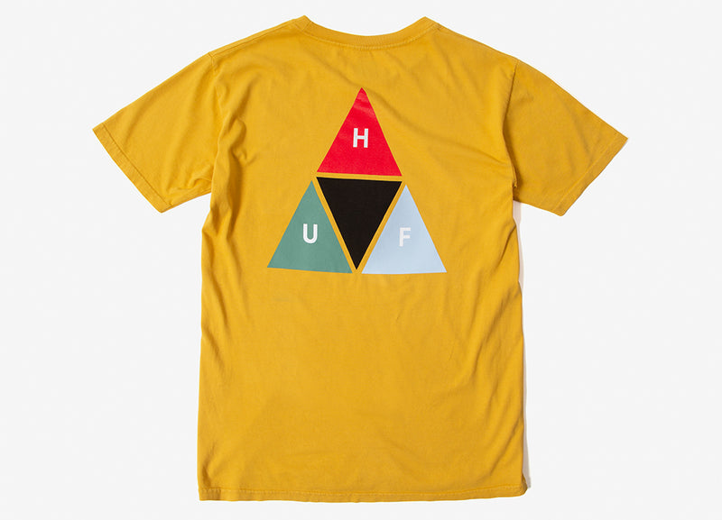 HUF Prism Triangle T Shirt - Mineral Yellow