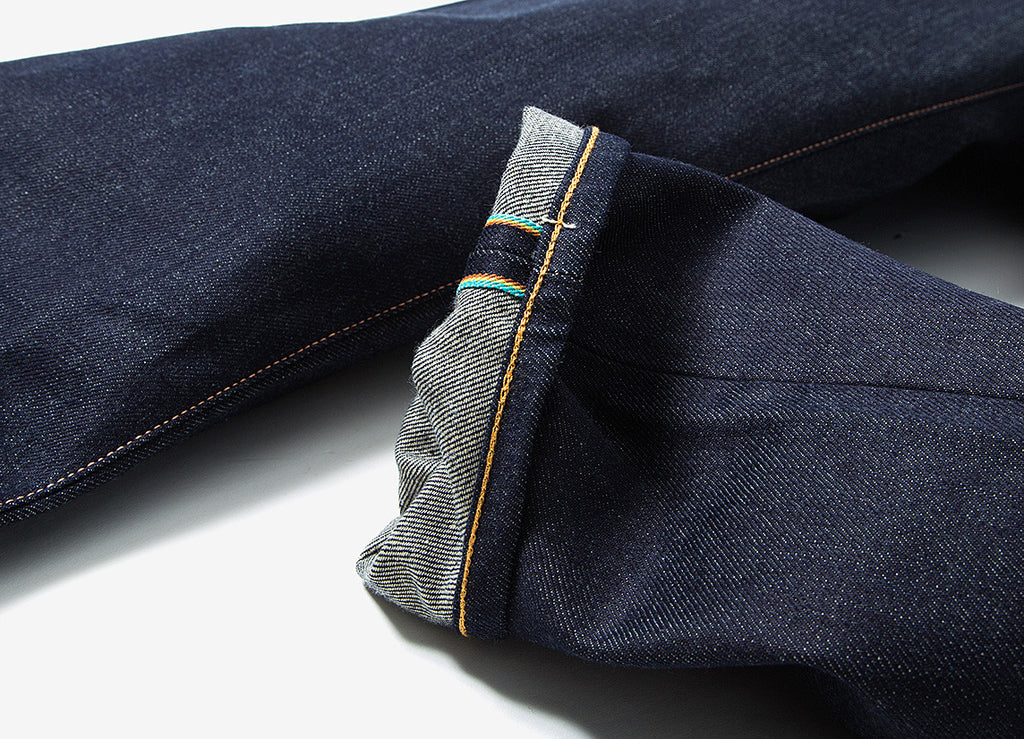 Edwin ED-45 Loose Tapered 63 Rainbow Selvedge Denim Jeans - Unwashed