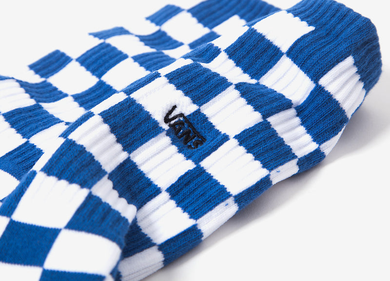 Vans Checkerboard II Crew Socks (1 Pack) - Blue/White