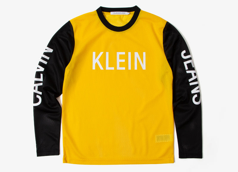 Calvin Klein Institutional Long Sleeve T Shirt - CK Black/Lemon