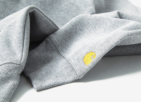Carhartt Hooded Chase Jacket - Grey Heather/Gold
