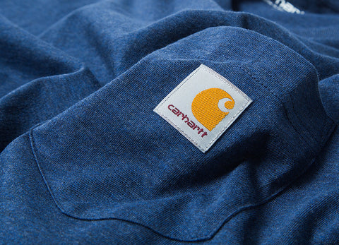 Carhartt Pocket T Shirt - Blue Heather