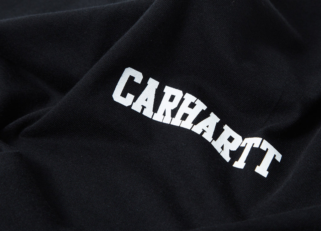 Carhartt College Script LT T Shirt - Black/White