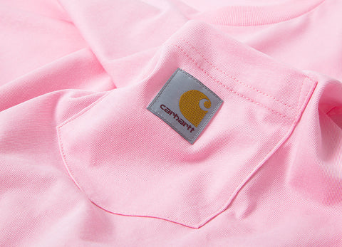 Carhartt Long Sleeve Pocket T Shirt - Vegas Pink