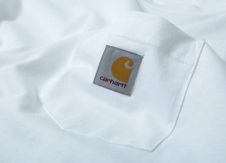 Carhartt Long Sleeve Pocket T Shirt - White