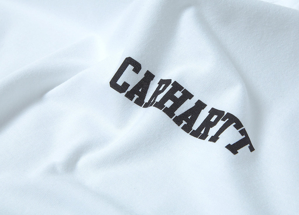 Carhartt College Script LT T Shirt - White/Black