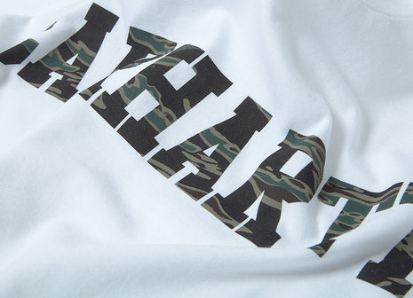 Carhartt College LT T Shirt - White/Tiger Camo