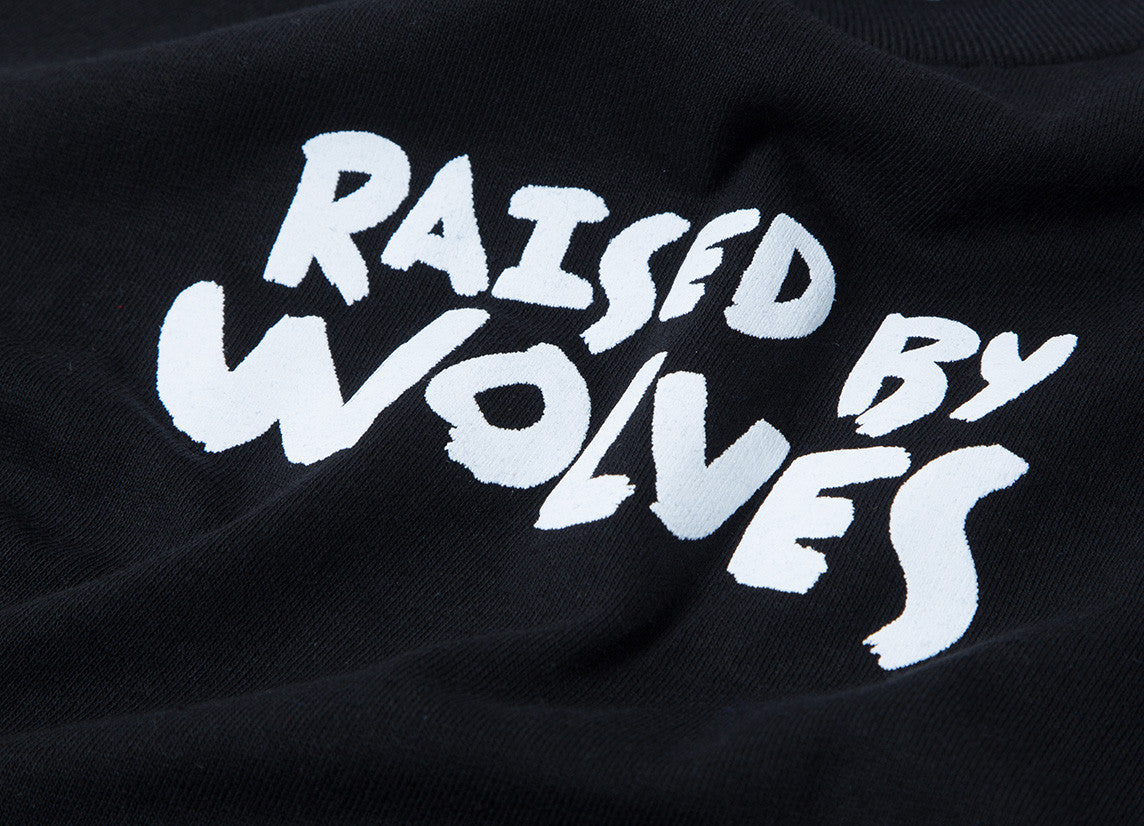 Raised By Wolves Tag Youth T Shirt - Black
