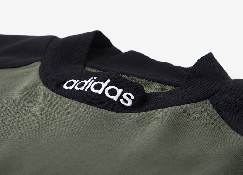 adidas Originals Heavyweight Goalie Jersey - Base Green/Black/Collegiate Navy