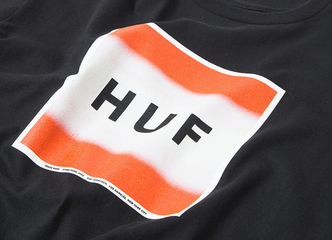 HUF Poster Box Logo T Shirt - Black