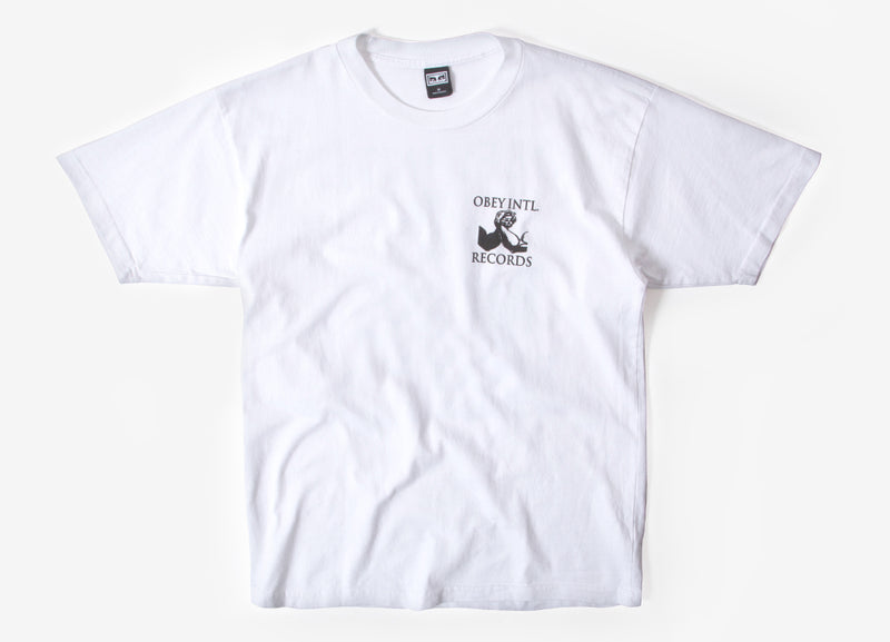 Obey Intl. Records T Shirt - White