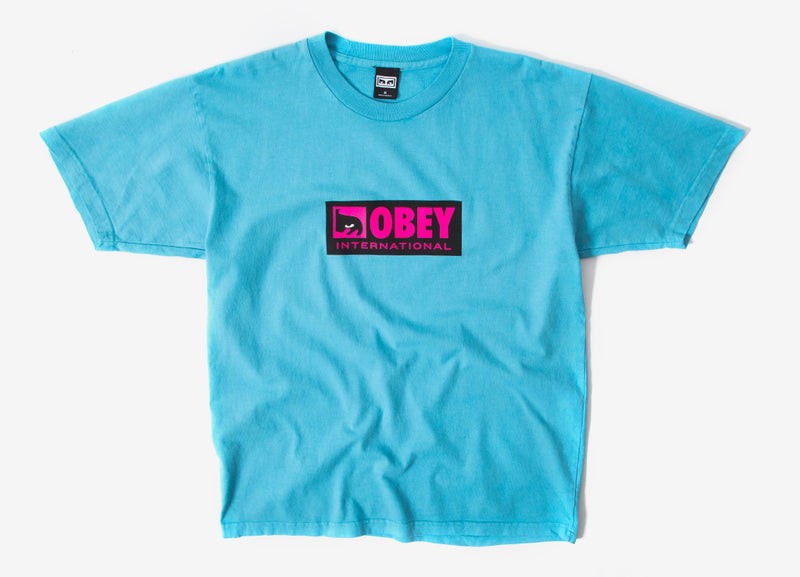 Obey International Icon 2 T Shirt - Pool