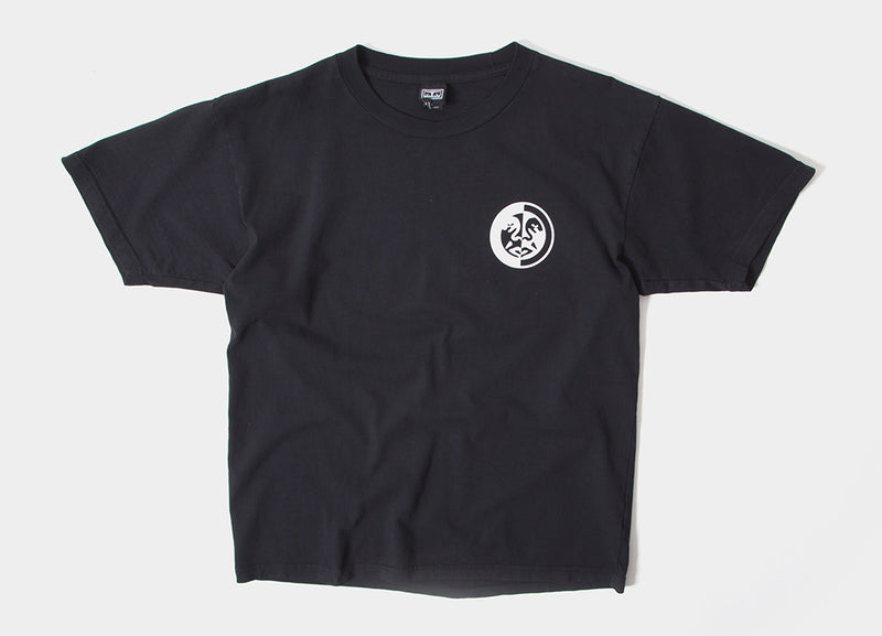 Obey International Split Icon T Shirt - Off Black