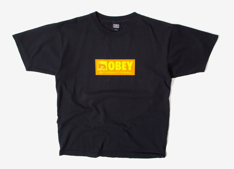Obey International Icon 2 T Shirt - Off Black