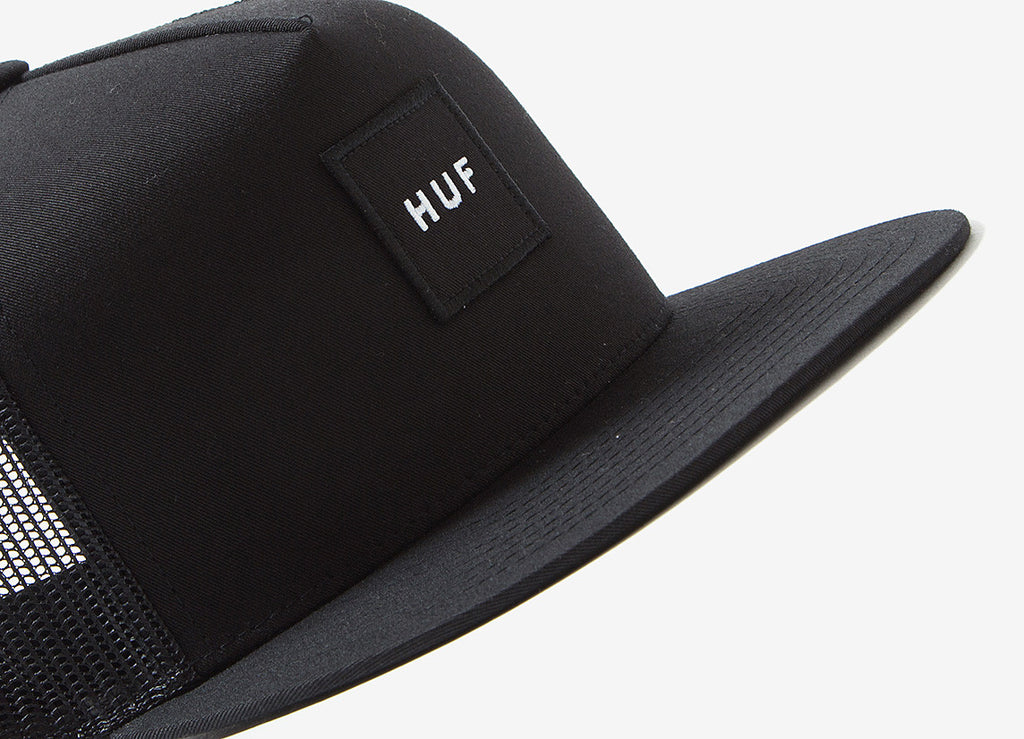 HUF Box Logo Trucker Cap - Black