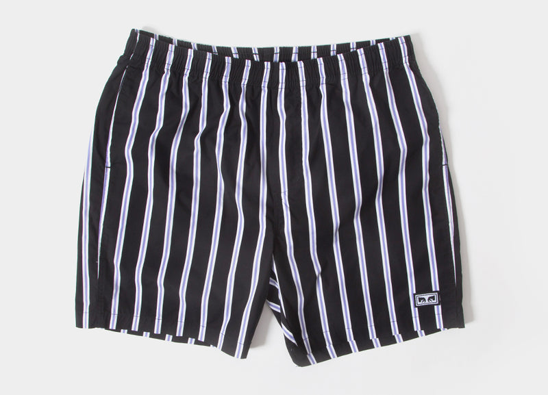 Obey Easy Stripe Shorts - Black/Multi
