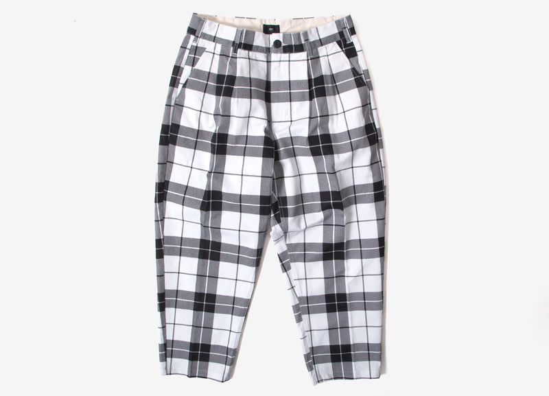 Obey Fubar Pleated Plaid Pant - White/Multi