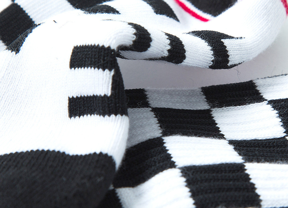 HUF Rude Boy Crew Socks - White/Black