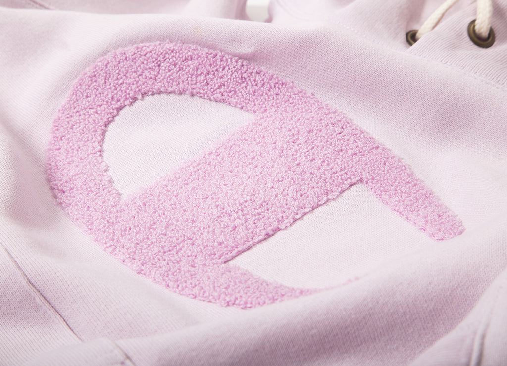 Champion Reverse Weave Chenille Pullover Hoody - Light Pink